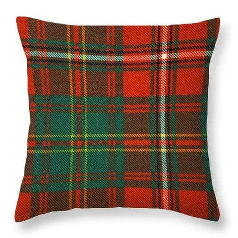 Hay Ancient Tartan Swatch - Throw Pillow