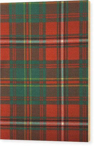 Hay Ancient Tartan Swatch - Wood Print