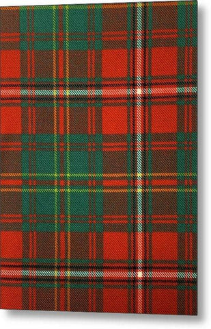 Hay Ancient Tartan Swatch - Metal Print