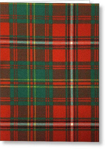 Hay Ancient Tartan Swatch - Greeting Card