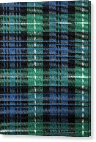 Lamont Ancient Tartan Swatch - Canvas Print