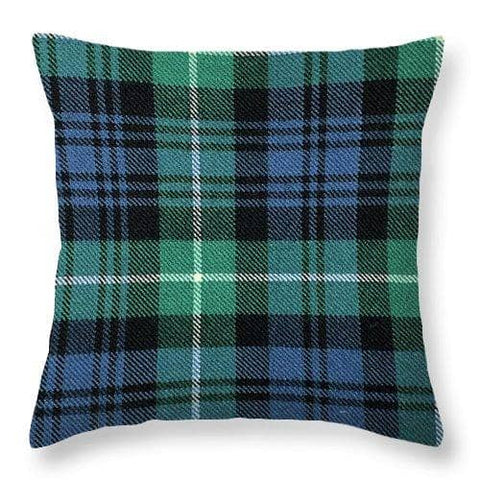 Lamont Ancient Tartan Swatch - Throw Pillow