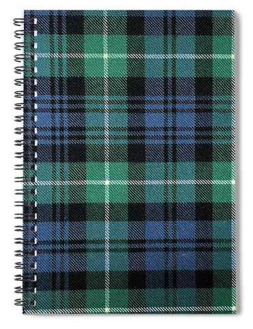 Lamont Ancient Tartan Swatch - Spiral Notebook