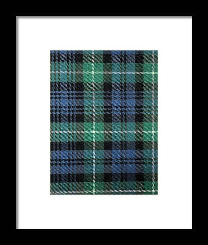 Lamont Ancient Tartan Swatch - Framed Print