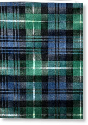 Lamont Ancient Tartan Swatch - Greeting Card
