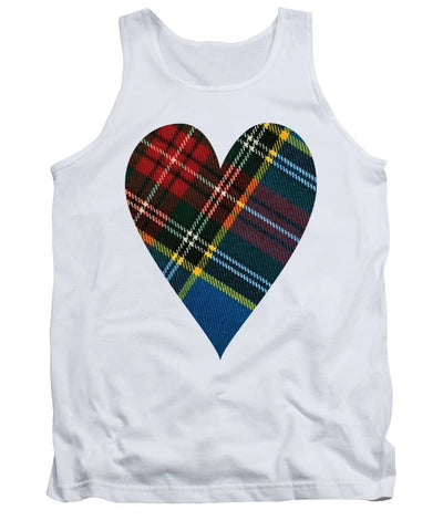 Macbeth Modern Tartan Heart - Tank Top