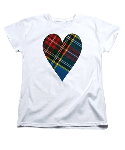 Macbeth Modern Tartan Heart - Women's T-Shirt (Standard Fit)