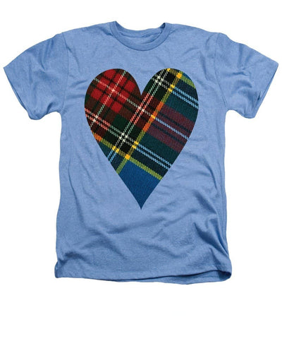 Macbeth Modern Tartan Heart - Heathers T-Shirt