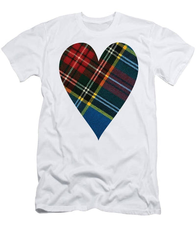 Macbeth Modern Tartan Heart - Men's T-Shirt (Athletic Fit)
