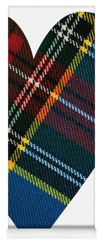 Macbeth Modern Tartan Heart - Yoga Mat