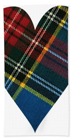 Macbeth Modern Tartan Heart - Bath Towel