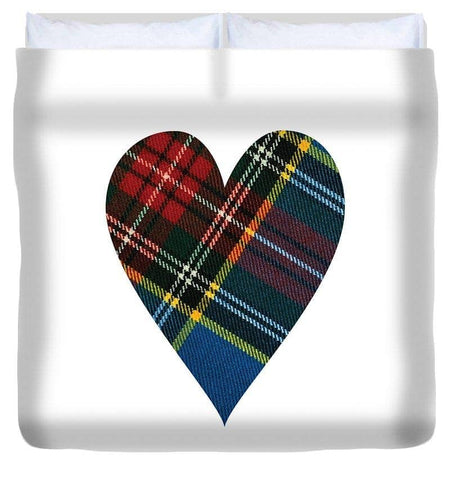 Macbeth Modern Tartan Heart - Duvet Cover