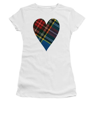 Macbeth Modern Tartan Heart - Women's T-Shirt