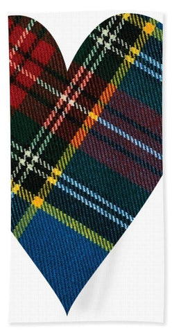 Macbeth Modern Tartan Heart - Beach Towel