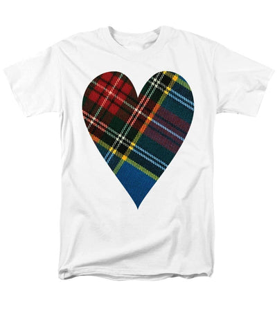 Macbeth Modern Tartan Heart - Men's T-Shirt  (Regular Fit)