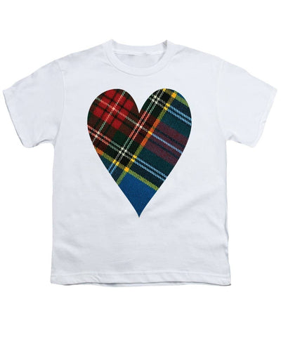 Macbeth Modern Tartan Heart - Youth T-Shirt