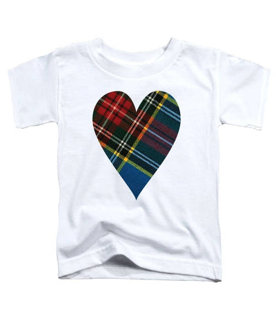 Macbeth Modern Tartan Heart - Toddler T-Shirt