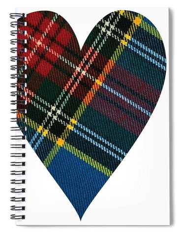 Macbeth Modern Tartan Heart - Spiral Notebook