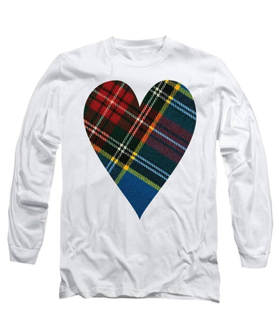 Macbeth Modern Tartan Heart - Long Sleeve T-Shirt