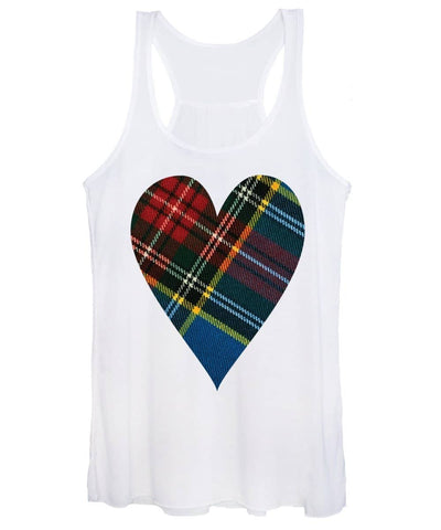 Macbeth Modern Tartan Heart - Women's Tank Top