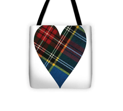 Macbeth Modern Tartan Heart - Tote Bag