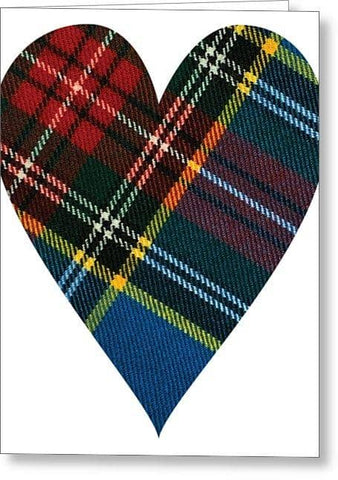 Macbeth Modern Tartan Heart - Greeting Card