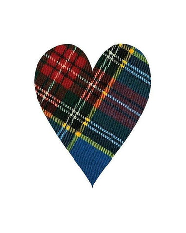 Macbeth Modern Tartan Heart - Art Print
