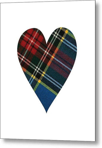 Macbeth Modern Tartan Heart - Metal Print