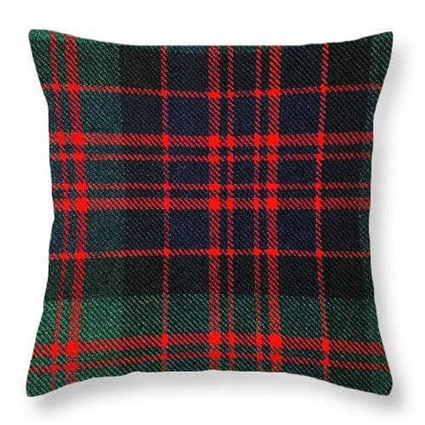 Macdonald Modern Tartan Swatch - Throw Pillow