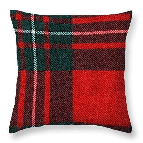 Macgregor Modern Tartan Swatch - Throw Pillow