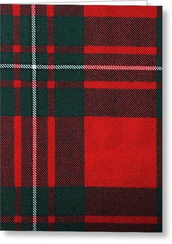 Macgregor Modern Tartan Swatch - Greeting Card