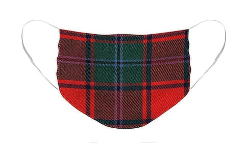 MacPhail Red Modern Tartan Swatch - Face Mask
