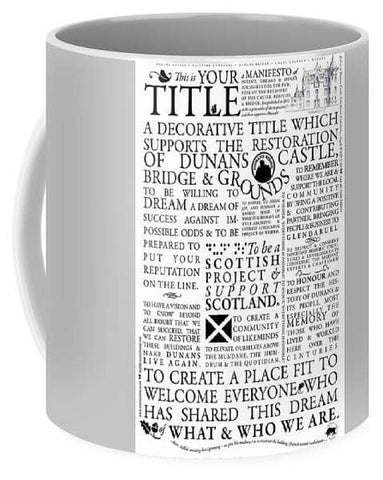 Manifesto - Mug - Scottish Laird