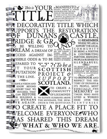 Manifesto - Spiral Notebook - Scottish Laird