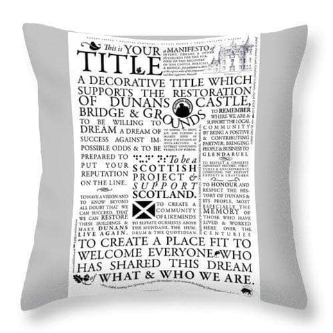 Manifesto - Throw Pillow - Scottish Laird