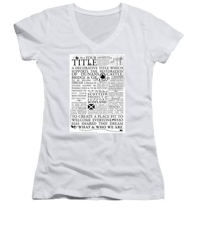 Manifesto - Women's V-Neck - Scottish Laird