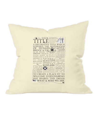 Natural Throw Cushion Manifesto - Scottish Laird