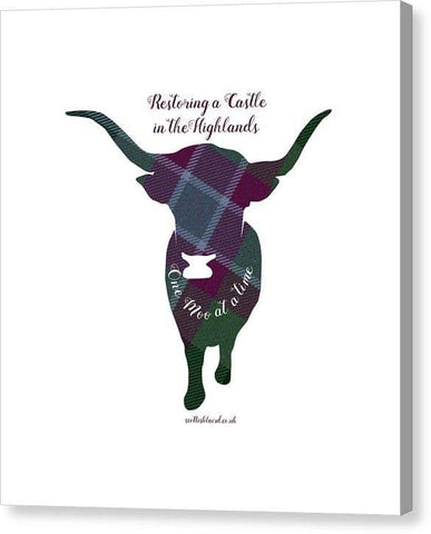 One Moo at a Time - Canvas Print
