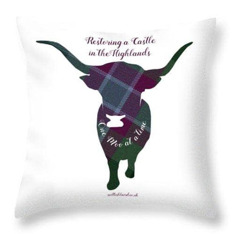 One Moo at a Time - Throw Pillow