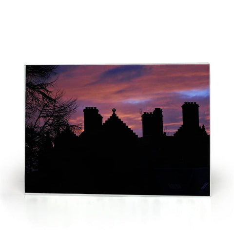 Castle at Sunset Glass Cutting Board