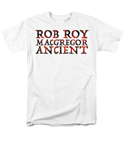 Rob Roy MacGregor Ancient Tartan Words - Men's T-Shirt  (Regular Fit)