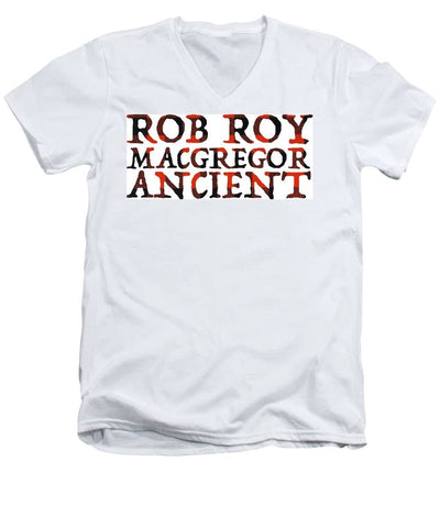 Rob Roy MacGregor Ancient Tartan Words - Men's V-Neck T-Shirt