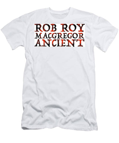 Rob Roy MacGregor Ancient Tartan Words - Men's T-Shirt (Athletic Fit)