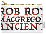 Rob Roy MacGregor Ancient Tartan Words - Carry-All Pouch