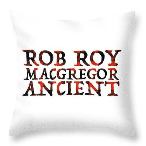 Rob Roy Macgregor Ancient - Throw Pillow