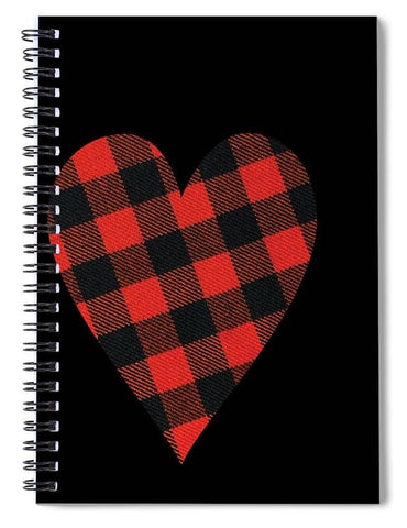 Rob Roy Macgregor Ancient Tartan Heart - Spiral Notebook