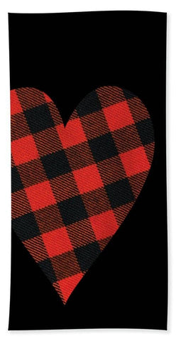Rob Roy Macgregor Ancient Tartan Heart - Bath Towel