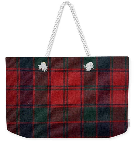 Robertson Red Modern Tartan - Weekender Tote Bag