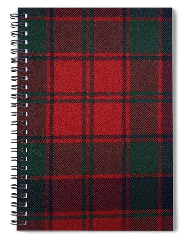 Robertson Red Modern Tartan - Spiral Notebook