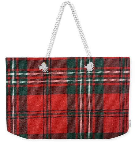 Scott Red Modern Tartan - Weekender Tote Bag